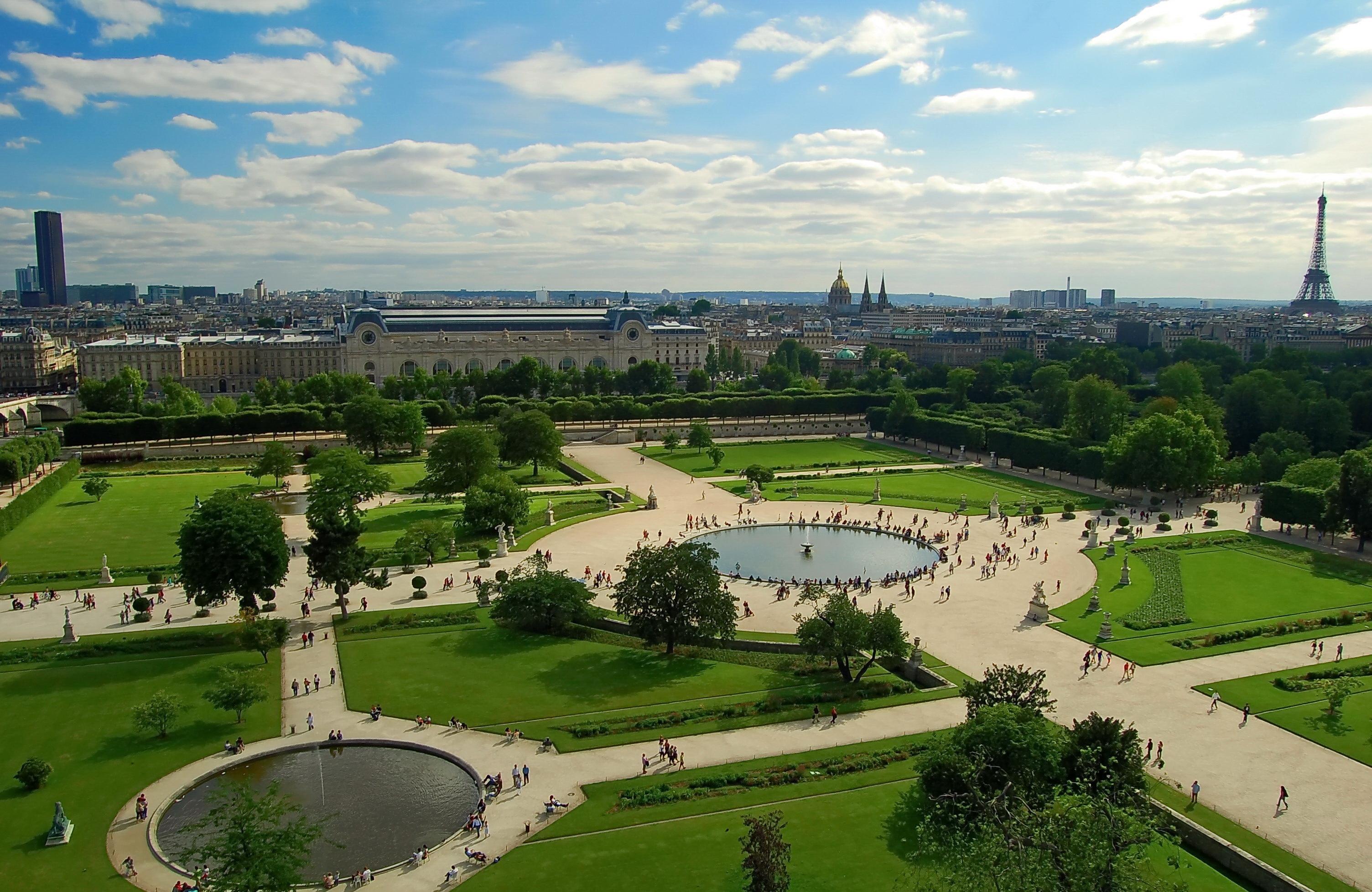 Парк в париже картинки